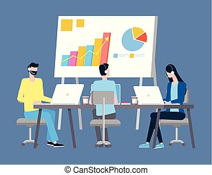 techniczne poparcie, prezentacja, grafika