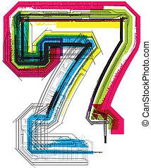 techniczny, typografia