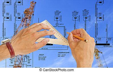 techniek, bouwsector, het ontwerpen