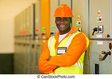 technik, przemysłowy, afrykanin