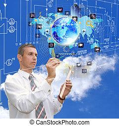 technik, technologien, internet