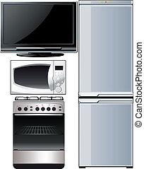 technik_set - a set of different techniques, television,...