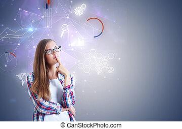 technika, a, síť, pojem