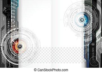 technika, design, grafické pozadí
