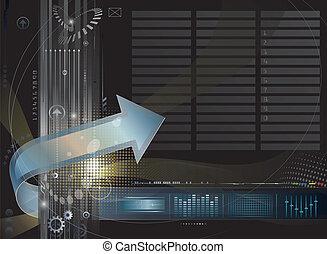 technika, grafické pozadí