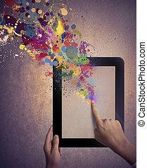 technika, tvořivý