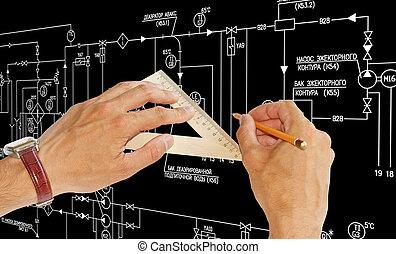 technika, zbudowanie, projektowanie