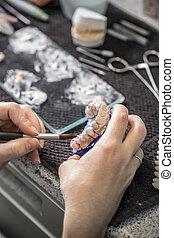 techniker, keramik, bewerben, z�hne
