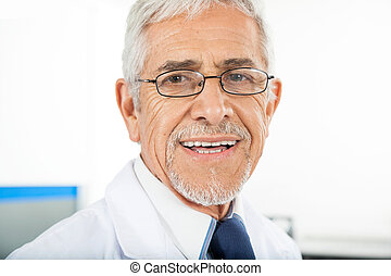 techniker, porträt, mann, glücklich