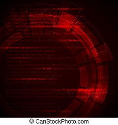 technique, fond, résumé, sombre, rouges