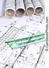 technique, projet, architectural