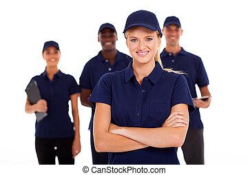 technique, service, équipe