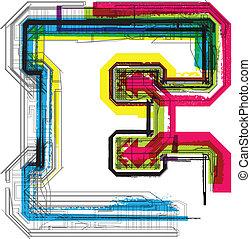 technique, typographie