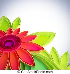 techniques., kwiat, quilling, barwny