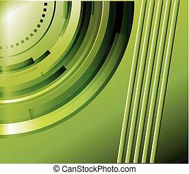 technisch, abstract, groene achtergrond