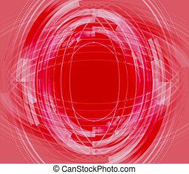 technisch, abstract, rode achtergrond
