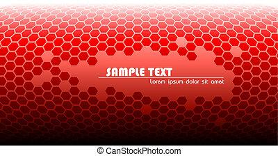 technisch, abstrakt, roter hintergrund