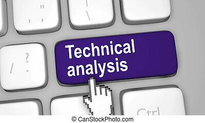 technisch, analyse, klee, toetsenbord