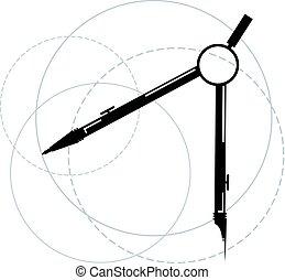 technisch, begriff, zeichnung, abbildung