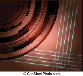 technisch, bruine , abstract, achtergrond
