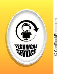 technisch, dienst, design.