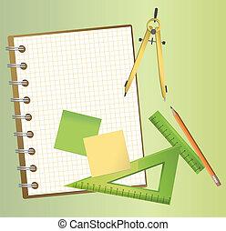 technisch, equipments, zeichnung