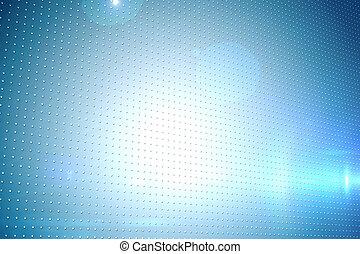 technisch, scherm, met, pixels