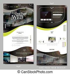 technisch, website, seite, schablone, eins
