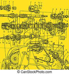 technische tekening, achtergrond