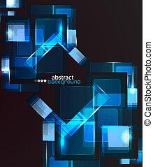 techno, abstraktní, grafické pozadí