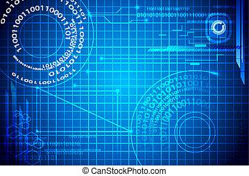 techno, binair, achtergrond