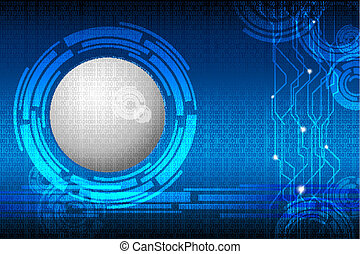 Techno Binary Background - illustration of abstract techno...