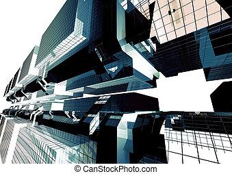 Techno Block - Blocks in futuristic techno look