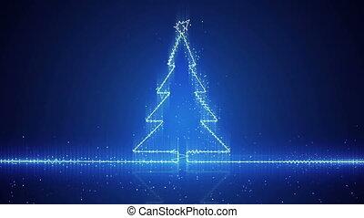techno christmas tree electric wave