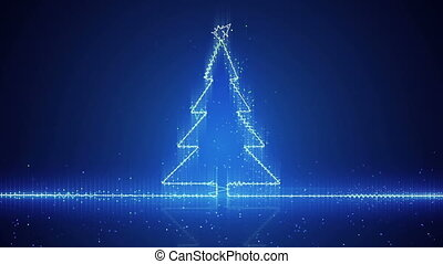 techno christmas tree electric wave