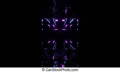 Techno Classy Glowing Neon Portal 4k uhd 3d rendering vj ...