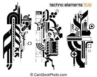 Techno elemetnts set five