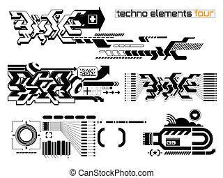 Techno elemetnts set four