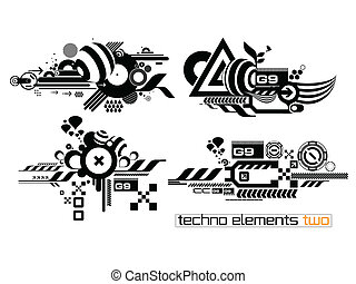 Techno elemetnts set two - Set of techno compositions for...