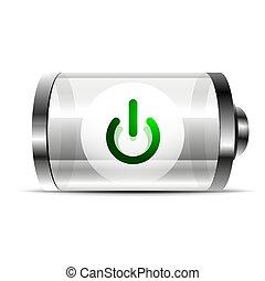 Techno futuristic start power button