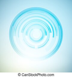 Techno Geometric Vector Circle Modern Science Abstract...