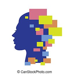 Abstract woman face