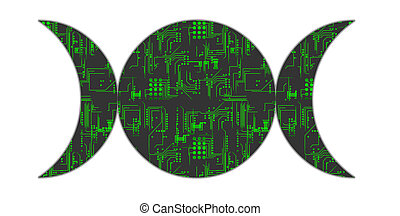 Techno Pagan Symbols - Two Goddess Symbols for Techno Pagans