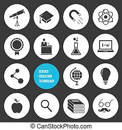 techno, vecteur, science, education