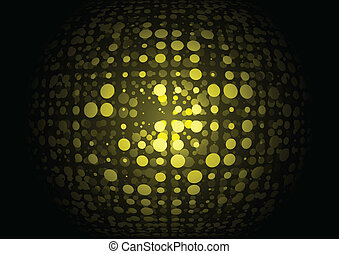 Techno yellow vector orb