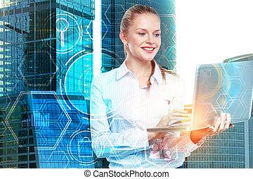 technológia, és, hálózat, fogalom
