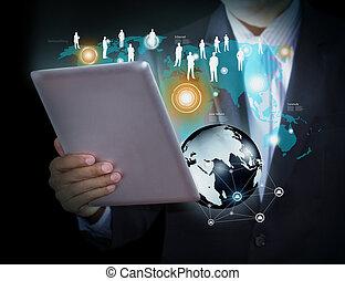 technológia, és, társadalmi, média