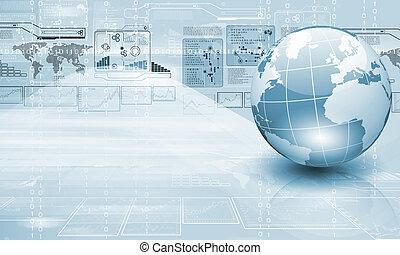 technológia, és, világ