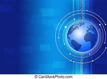 technológia, ügy blue, háttér