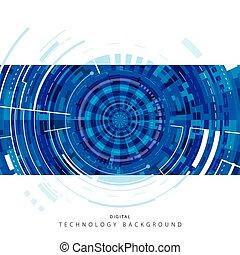 technológia, digital háttér